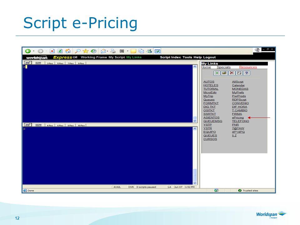 12 Script e-Pricing