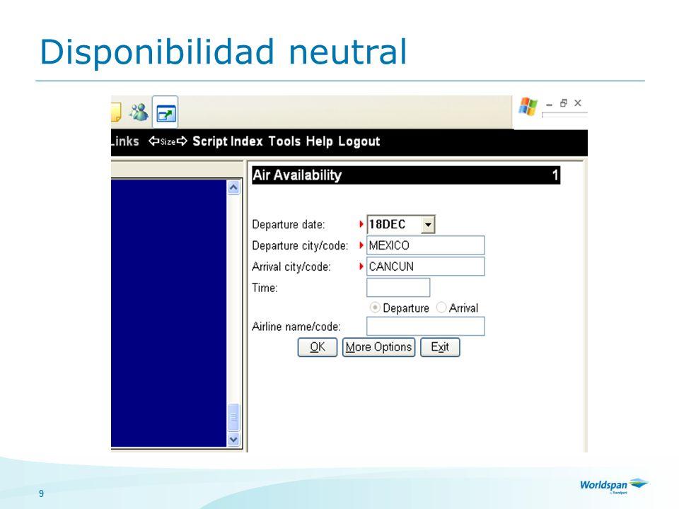 9 Disponibilidad neutral