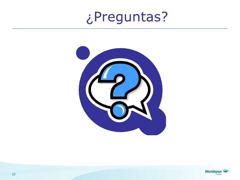 17 ¿ Preguntas?