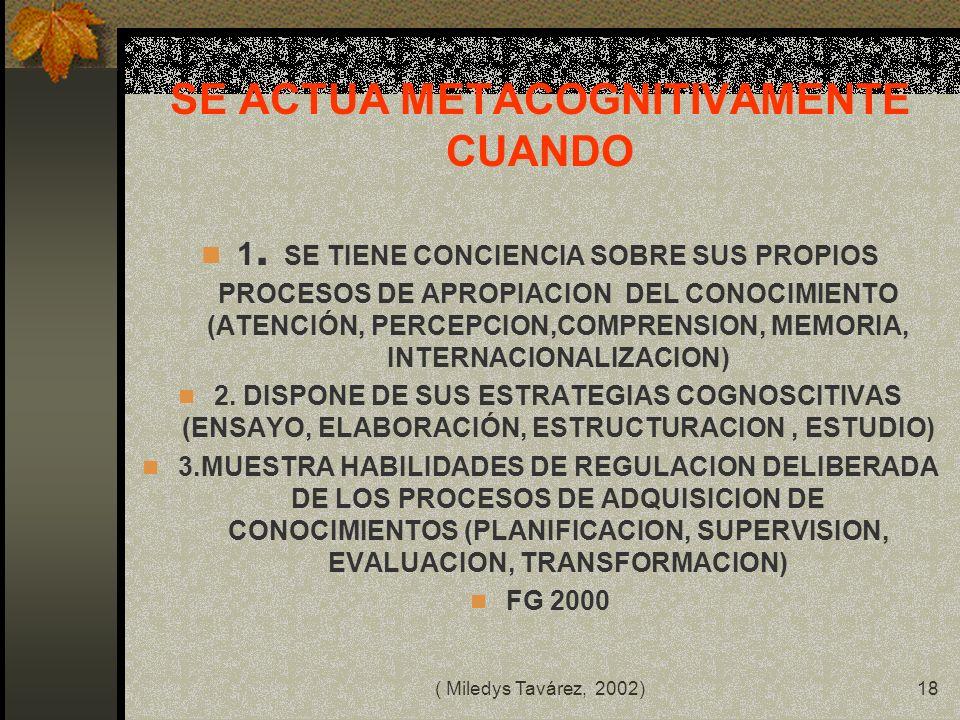 ( Miledys Tavárez, 2002)17 UNA INVESTIGACION APLICADA COMO UNA RESPUESTA CONOCER INTERPRETAR MANEJAR LA REALIDAD CONCRETA AL DESEO DE LA CUAL CONOCE M