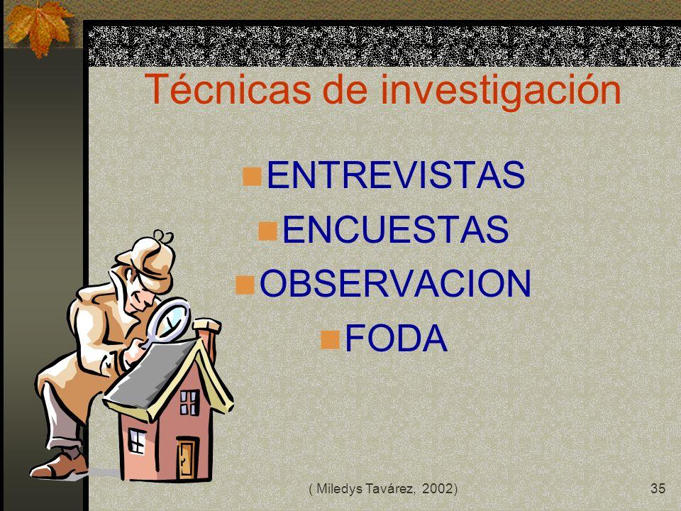 ( Miledys Tavárez, 2002)34 METODOS METODOS CUALITATIVOS : COMPRENSIVO, HISTORIA DE VIDAS, FENOMENOLOGICO, ETNOGRAFICO, investigación- acción, ENTRE OT