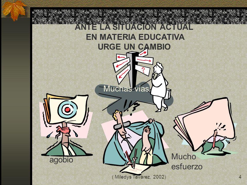 ( Miledys Tavárez, 2002)3 PROPÓSITO Compartir algunas ideas con directivos y docentes sobre la investigación en el aula para favorecer el desarrollo d