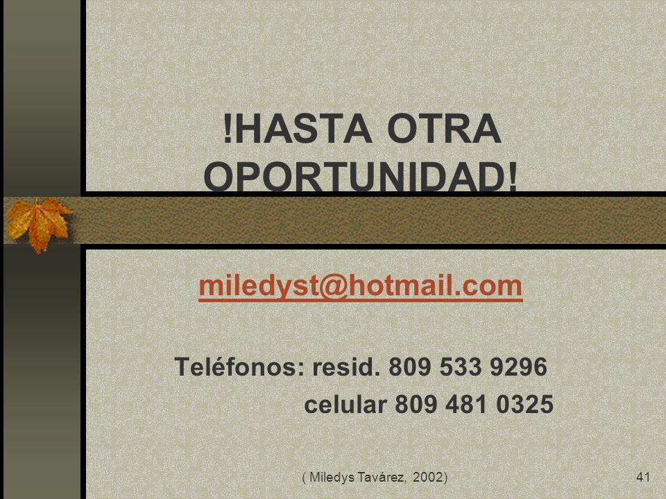( Miledys Tavárez, 2002)40 BIBLIOGRAFIA BALLESTA, J. (1996): La formación del profesorado en nuevas tecnologías aplicadas a la educación, en SALINAS,
