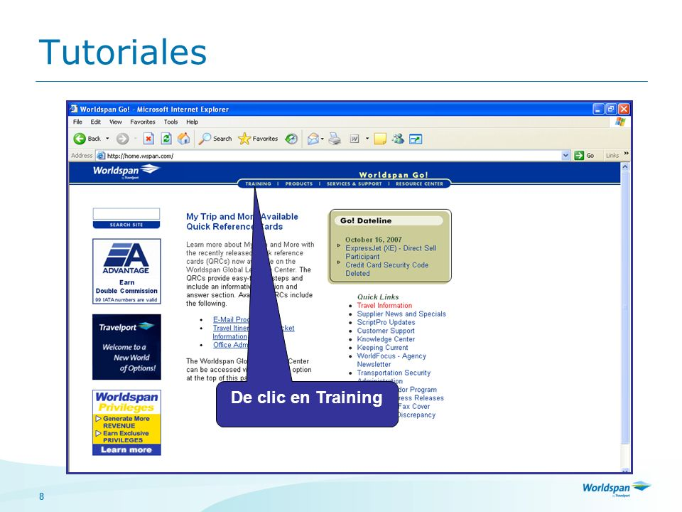 8 Tutoriales De clic en Training
