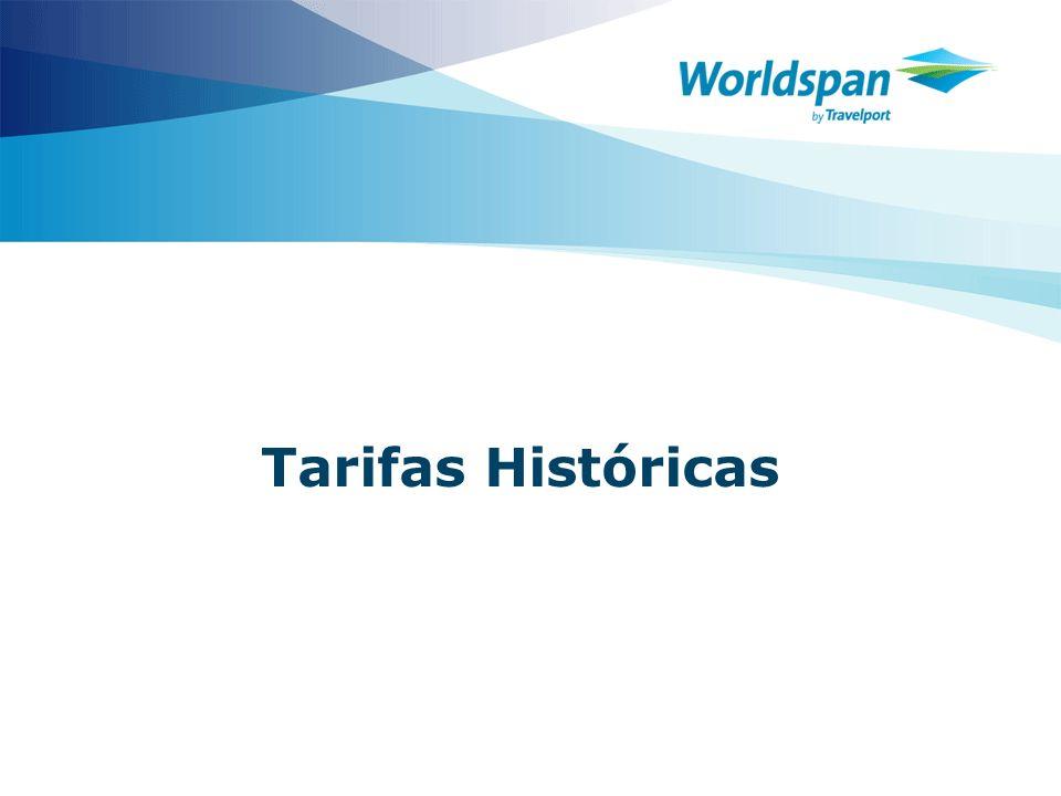 Tarifas Históricas