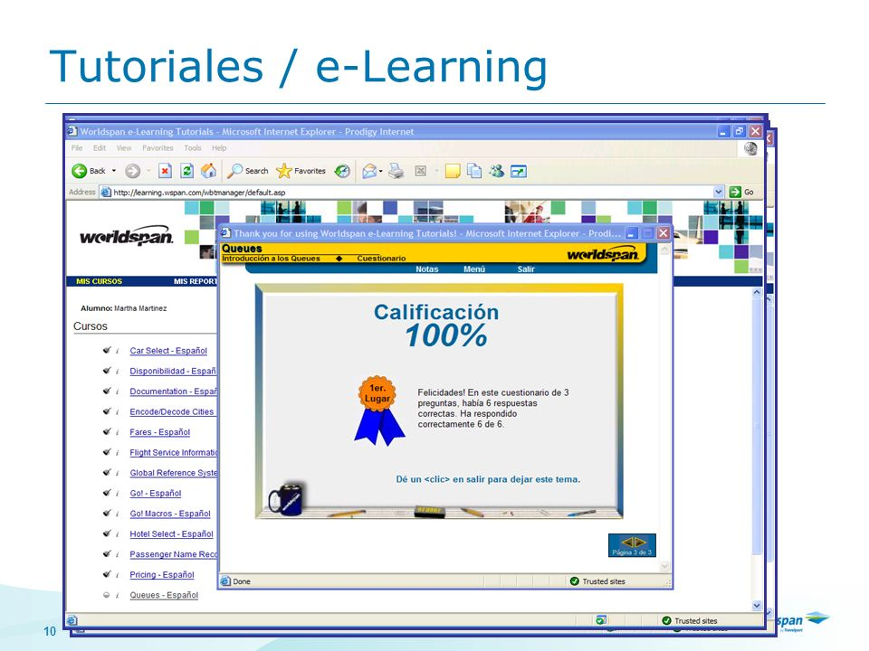 10 Tutoriales / e-Learning