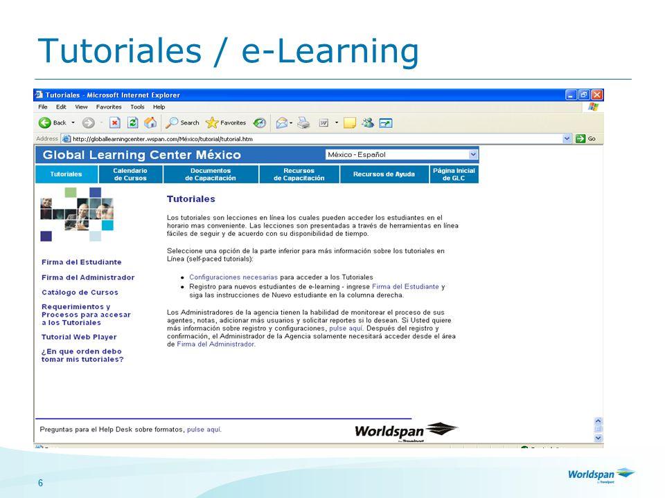 6 e-Learning Tutoriales / e-Learning