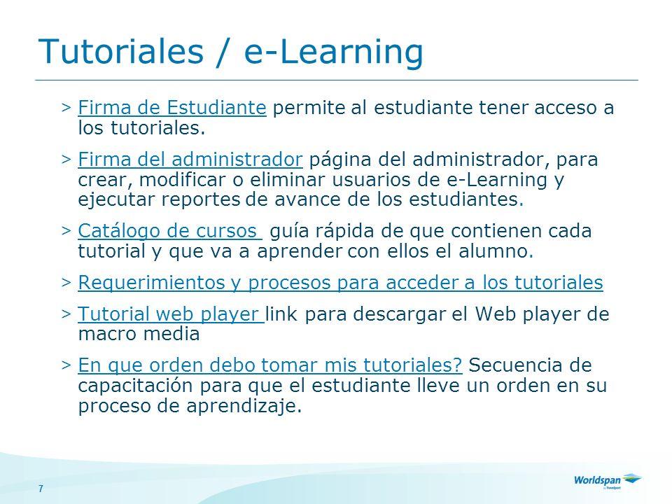 7 > Firma de Estudiante permite al estudiante tener acceso a los tutoriales. > Firma del administrador página del administrador, para crear, modificar