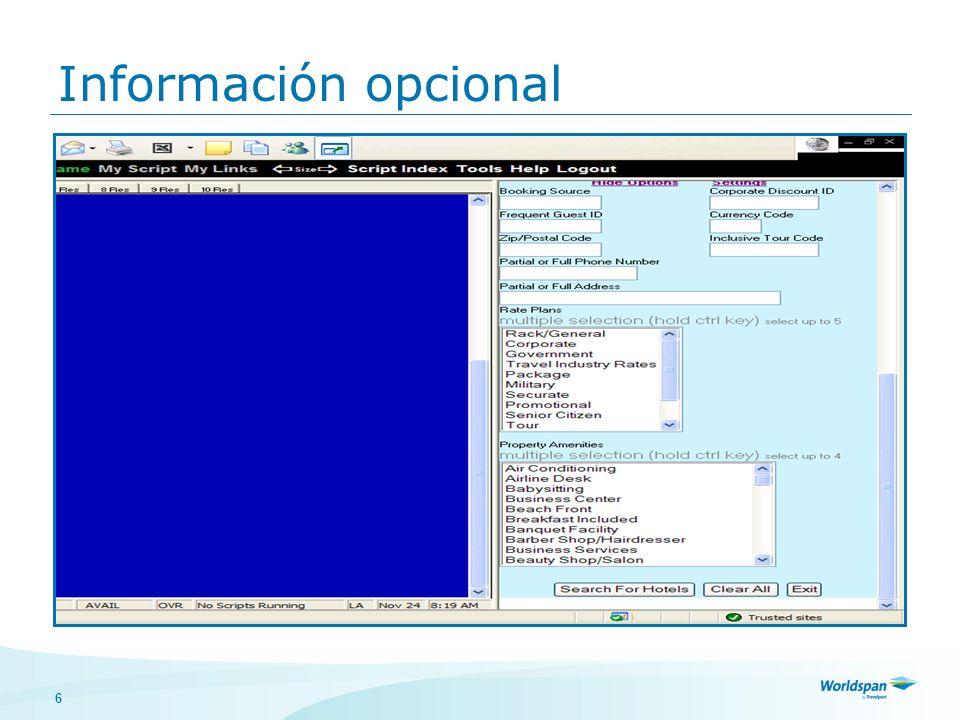 6 Información opcional