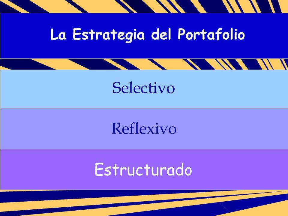 Proceso de evaluación diferencial de los portafolios de evaluación: 1.- Determinar los objetivos curriculares que serán evaluados por las muestras contenidas en el portafolio.