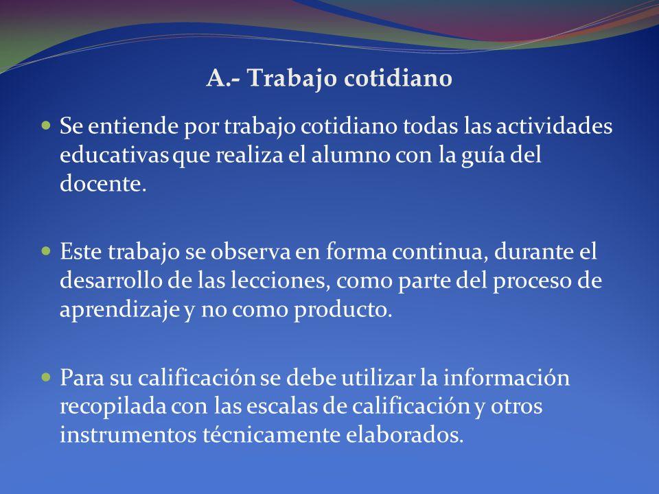 2.1.- Componentes de las calificaciones La nota de los estudiantes en cada asignatura y para cada período, excepto el caso de la conducta, se obtendrá