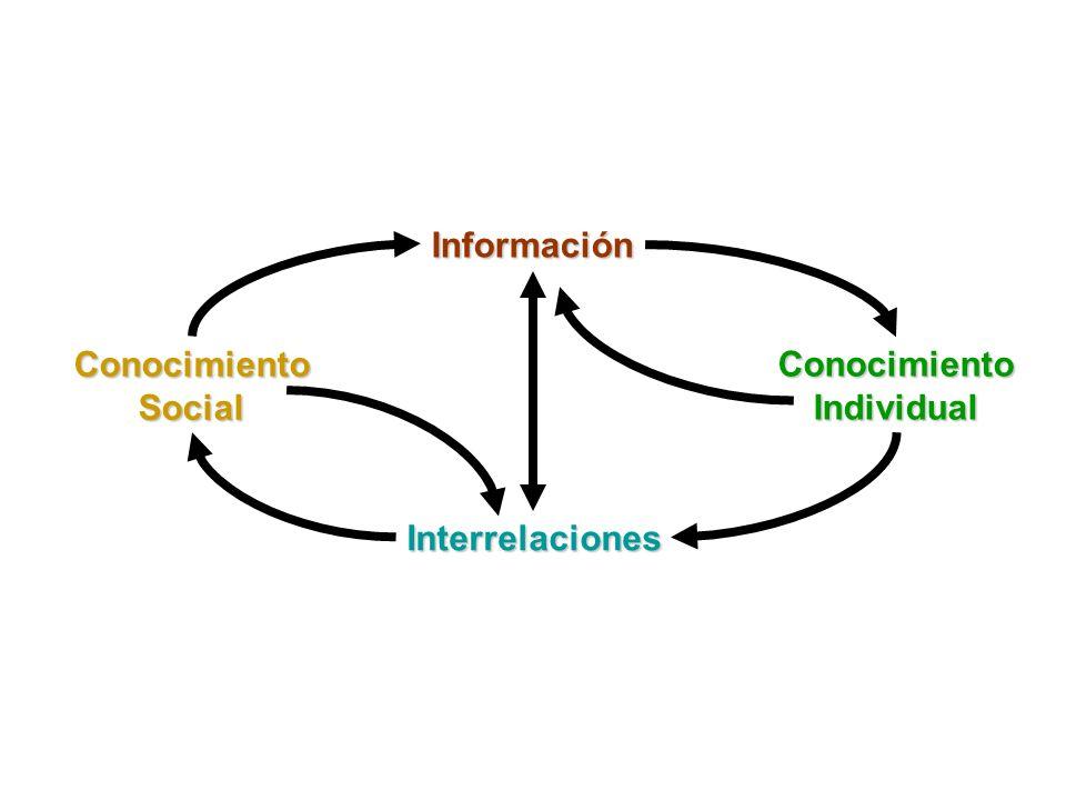 Información Conocimiento Individual Interrelaciones Conocimiento Social