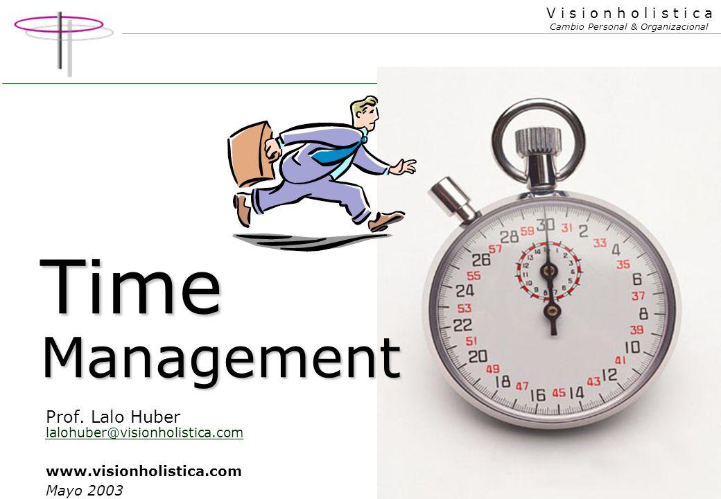 1 V i s i o n h o l i s t i c a Cambio Personal & Organizacional Time Management Prof.