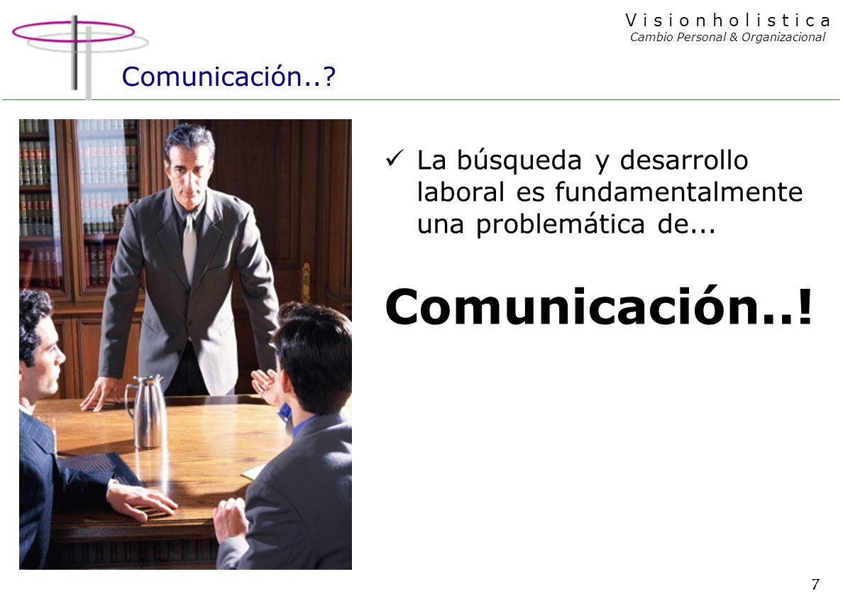 7 V i s i o n h o l i s t i c a Cambio Personal & Organizacional Comunicación...