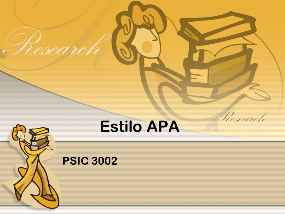 FORMATO APA – QUINTA EDICIÓN El estilo de cita de la Asociación Psicológica Americana (APA), requiere paréntesis dentro del texto más que en notas a pie de página o finales.