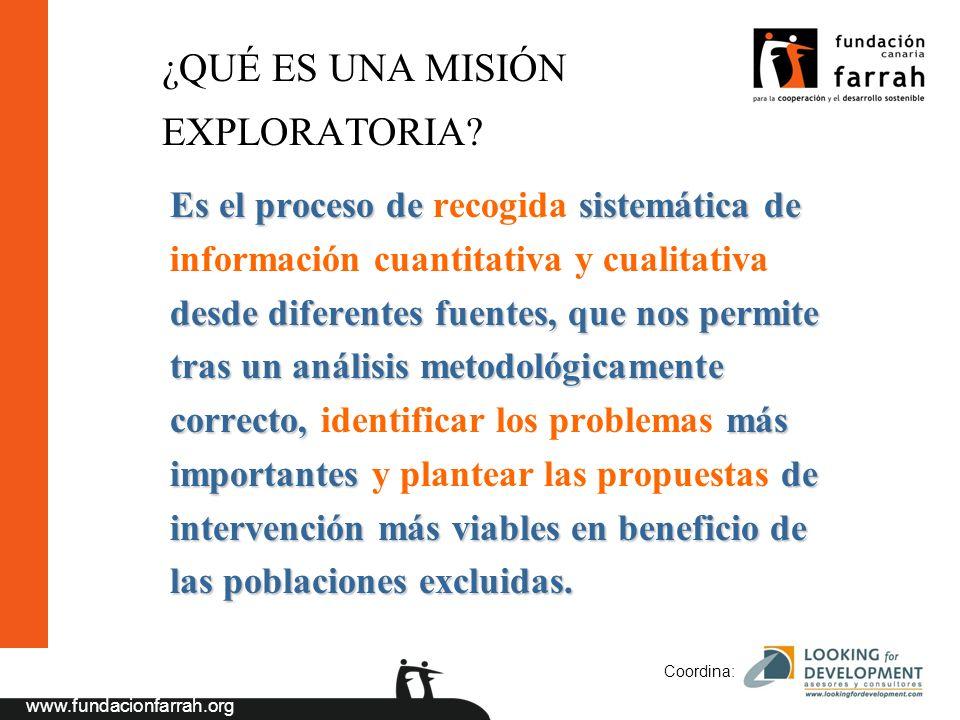 www.fundacionfarrah.org Coordina: ¿QUÉ ES UNA MISIÓN EXPLORATORIA.