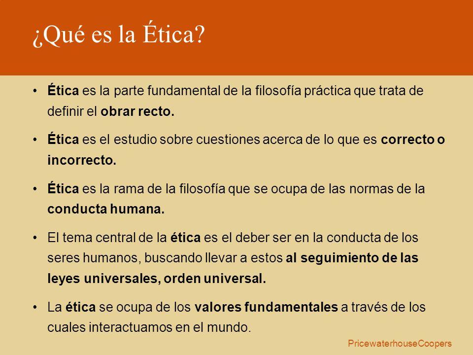 ¿Qué es la Ética? Ética es la parte fundamental de la filosofía práctica que trata de definir el obrar recto. Ética es el estudio sobre cuestiones ace