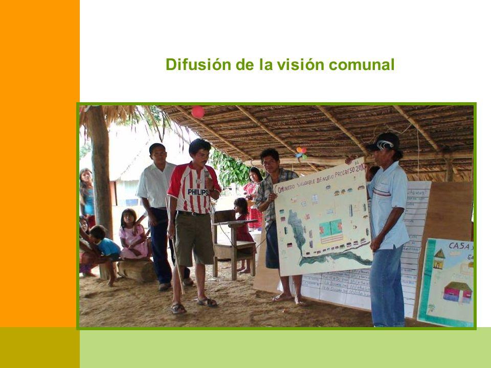 Difusión de la visión comunal