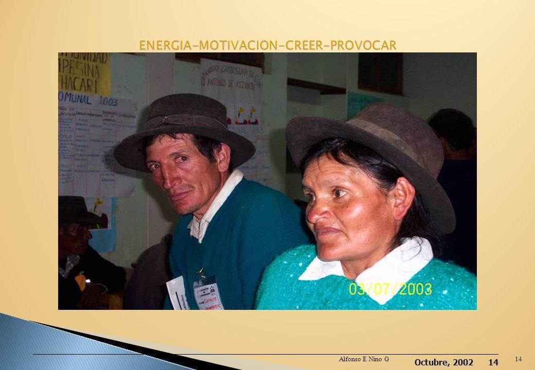 Octubre, 2002 13 Debe ser de la comunidad y elegido por ella Capacitado de manera integral Utiliza métodos de Dx rápido y da Tto Voluntario y con estí
