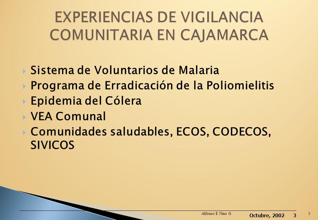 Octubre, 2002 2 La Oficina General de Epidemiología en mayo del 2005 publico la norma técnica Protocolos de Vigilancia Epidemiológica parte I. en la q