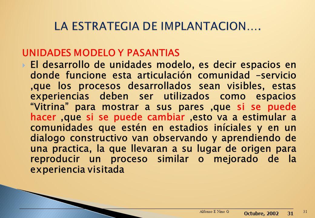 Octubre, 2002 30 MANEJO DE LA INFORMACION. El manejo de la información generalmente se han circunscrito al área institucional, sabemos que manejar inf