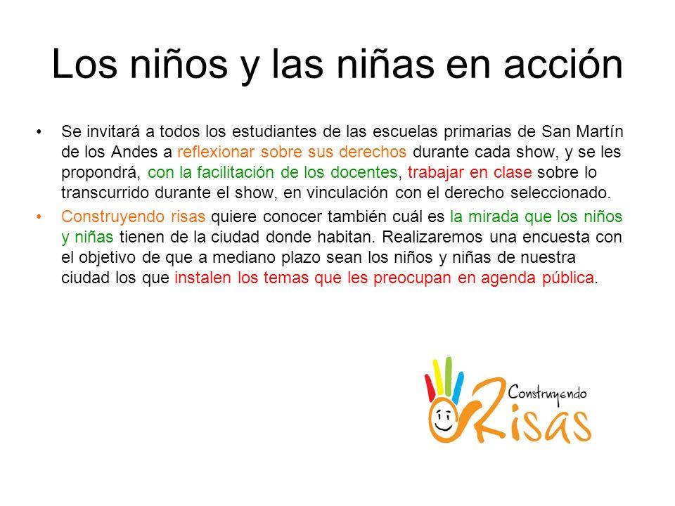 Los niños y las niñas en acción Se invitará a todos los estudiantes de las escuelas primarias de San Martín de los Andes a reflexionar sobre sus derec