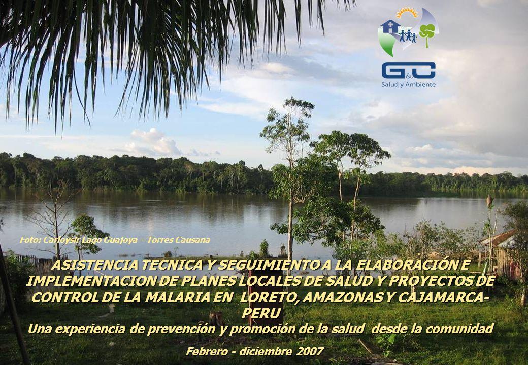 ASISTENCIA TECNICA Y SEGUIMIENTO A LA ELABORACIÓN E IMPLEMENTACION DE PLANES LOCALES DE SALUD Y PROYECTOS DE CONTROL DE LA MALARIA EN LORETO, AMAZONAS