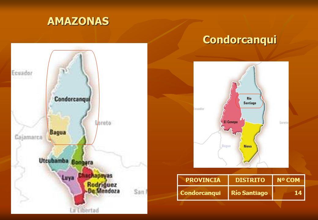 PROVINCIADISTRITONº COM CondorcanquiRío Santiago14 AMAZONAS Condorcanqui