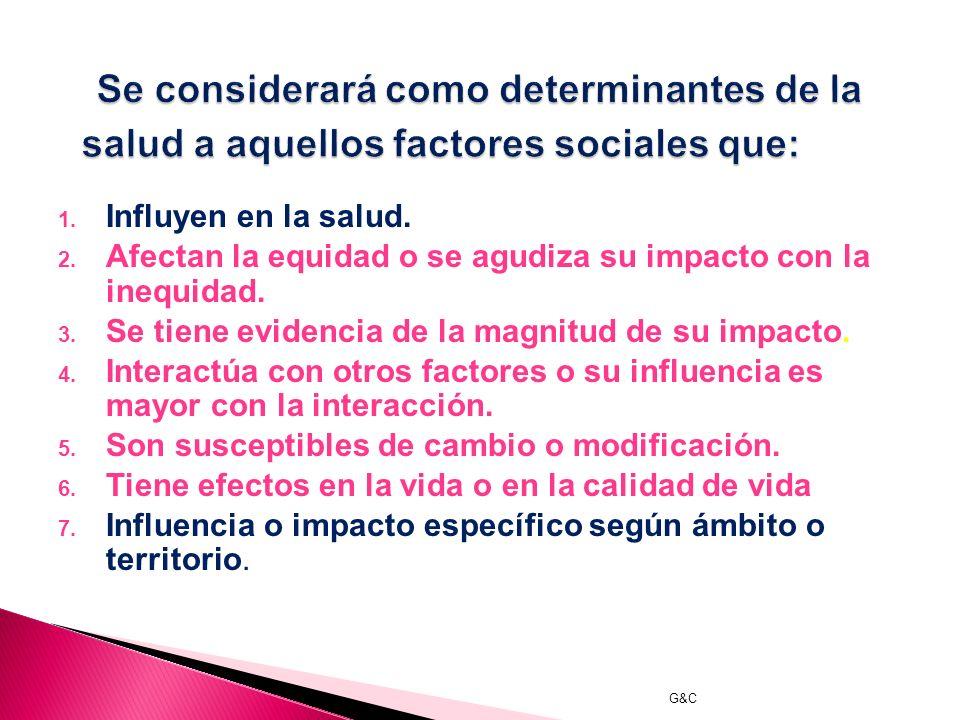 G&C La equidad sanitaria puede definirse como la ausencia de diferencias injustas y evitables o remediables de salud entre las poblaciones o grupos de