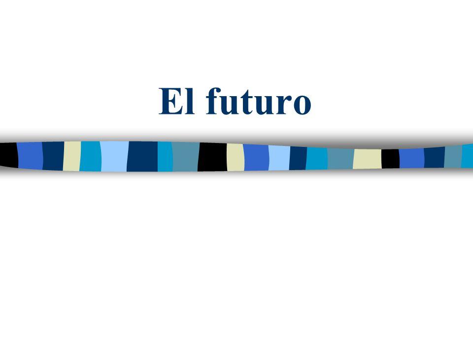Las formas Para formar el futuro, hay que añadir las terminaciones al infinitivo del verbo.