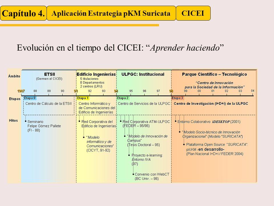 Capítulo 4. Aplicación Estrategia pKM SuricataCICEI Evolución en el tiempo del CICEI: Aprender haciendo