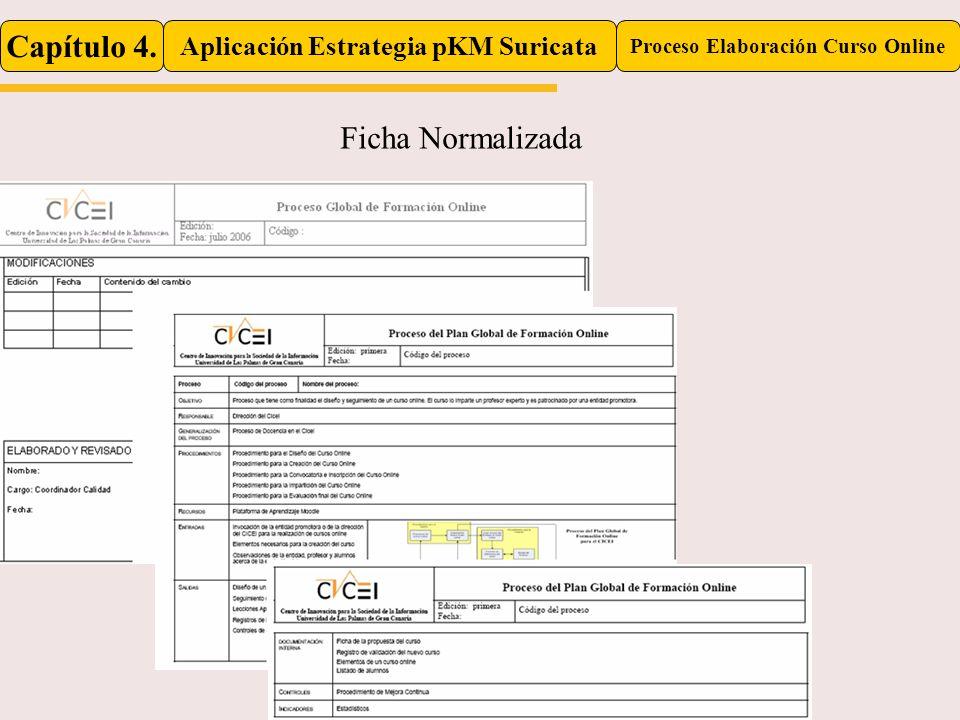 Capítulo 4. Aplicación Estrategia pKM Suricata Proceso Elaboración Curso Online Ficha Normalizada