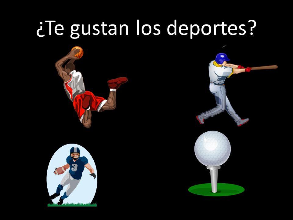 ¿Te gustan los deportes?