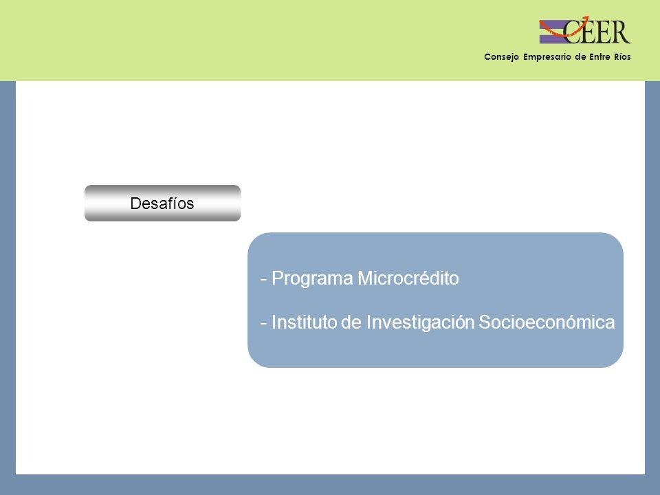 Consejo Empresario de Entre Ríos Desafíos - Programa Microcrédito - Instituto de Investigación Socioeconómica
