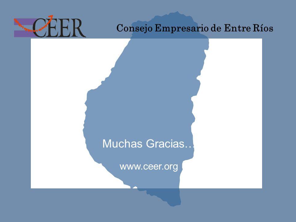 Consejo Empresario de Entre Ríos Muchas Gracias… www.ceer.org