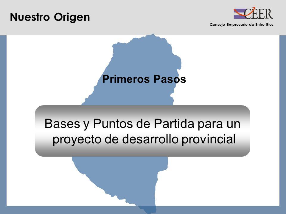 Consejo Empresario de Entre Ríos Nuestro Origen Primeros Pasos Bases y Puntos de Partida para un proyecto de desarrollo provincial