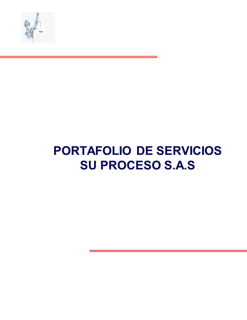PORTAFOLIO DE SERVICIOS SU PROCESO S.A.S