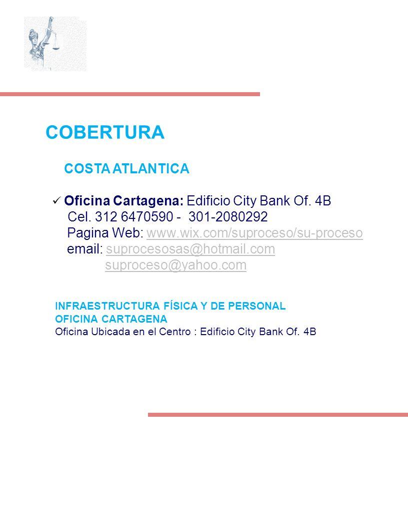 COSTA ATLANTICA Oficina Cartagena: Edificio City Bank Of. 4B Cel. 312 6470590 - 301-2080292 Pagina Web: www.wix.com/suproceso/su-procesowww.wix.com/su