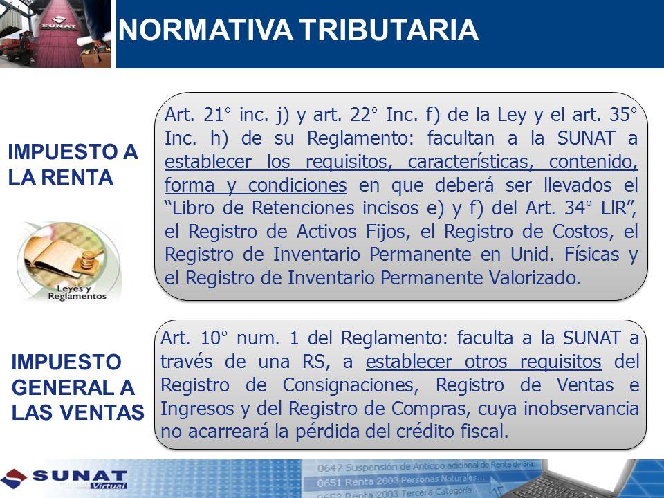 Diez (10) días hábiles Tres (03) meses Registro de Ventas e Ingresos (*) Registro de Compras (*) Registro de Consignaciones Registro de Huéspedes Libro de Retenciones inciso e) y f) del Art.