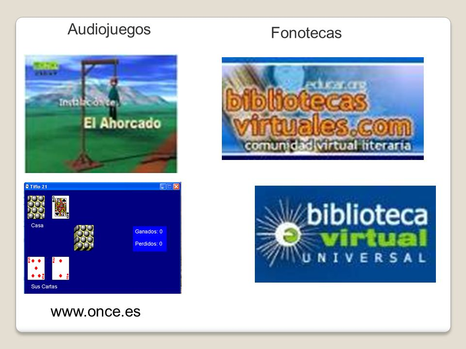 Audiojuegos Fonotecas www.once.es