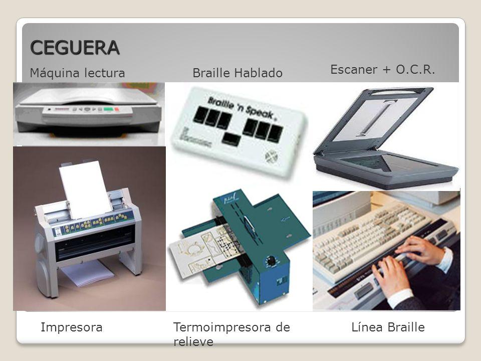 ImpresoraTermoimpresora de relieve Máquina lecturaBraille Hablado Escaner + O.C.R.