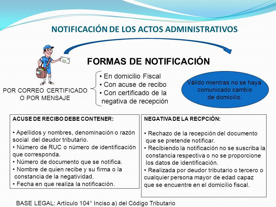 NOTIFICACIÓN DE LOS ACTOS ADMINISTRATIVOS POR MEDIO DE SISTEMAS DE COMUNICACIÓN ELECTRÓNICOS Notificación se considera efectuada la día hábil siguiente a la fecha del depósito del mensaje de datos o documento.