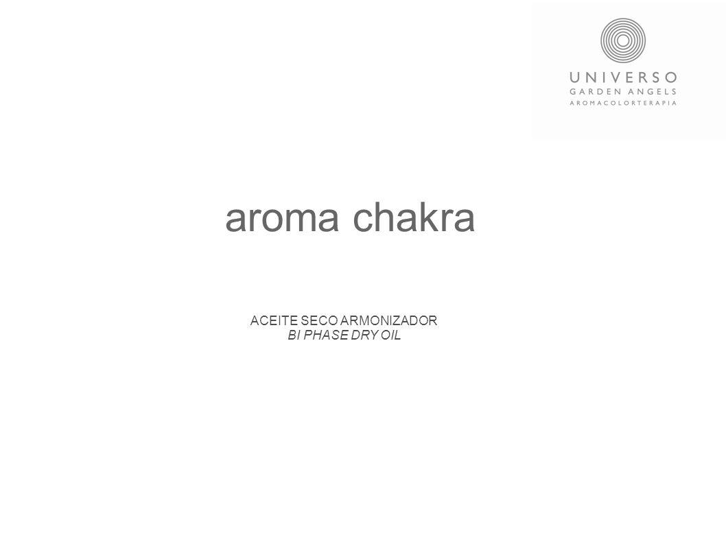 La alquimia del Bienestar Cada uno de los armonizadores AROMA CHAKRA tiene como finalidad armonizar y equilibrar los centros de energía conocidos como CHAKRAS El conocimiento de los chakras ha existido durante miles de años, en el último siglo ha llegado la información a Occidente.