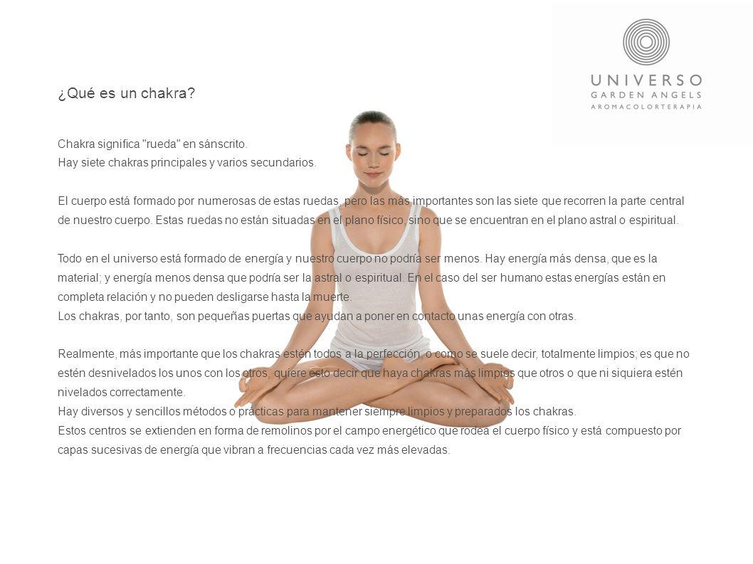 ¿Qué es un chakra? Chakra significa