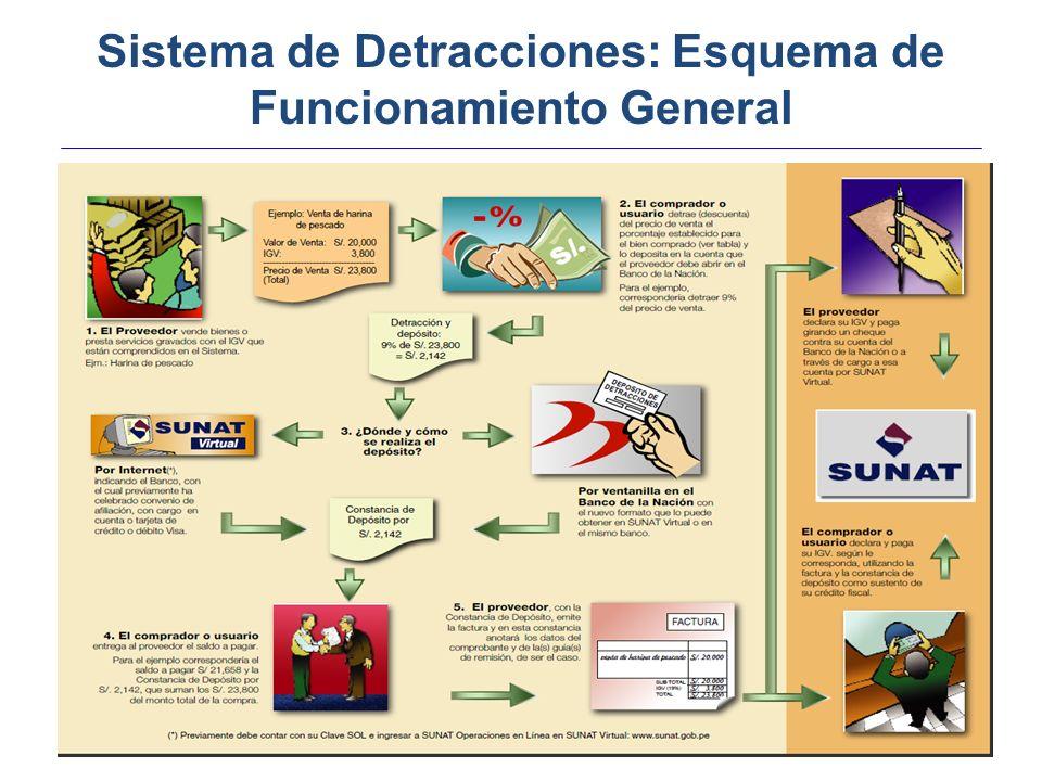5 Sistema de Detracciones: Esquema de Funcionamiento General