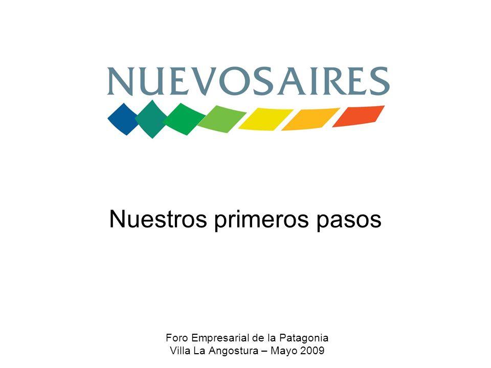 Nuestros primeros pasos Foro Empresarial de la Patagonia Villa La Angostura – Mayo 2009