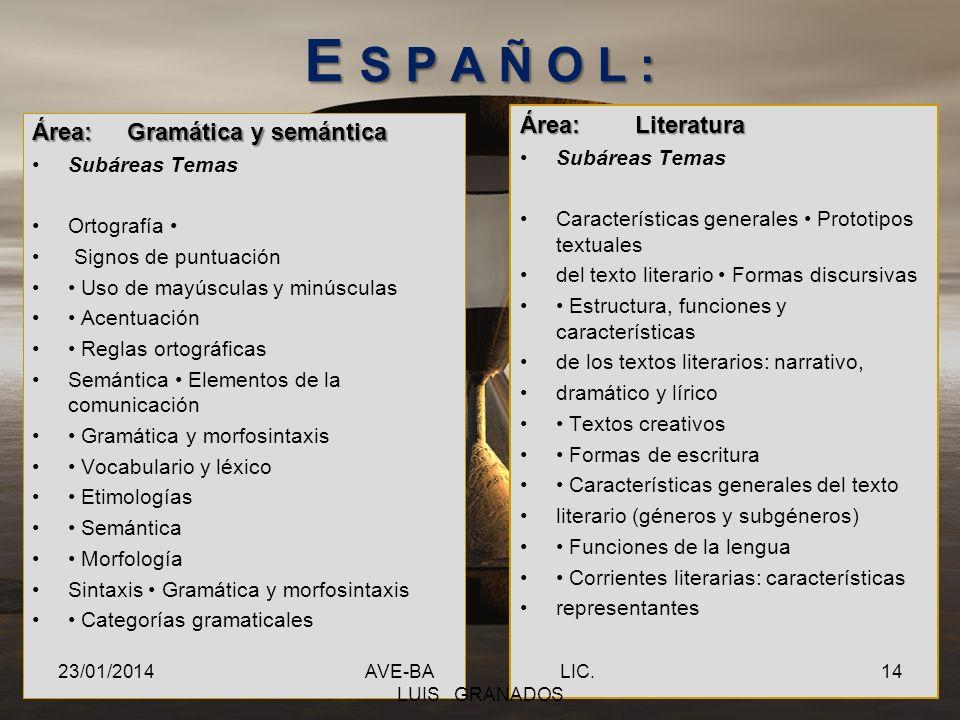 El examen consta de dos partes: Una prueba general de conocimientos y habilidades dividida en siete áreas 1. Razonamiento verbal 2. Razonamiento matem