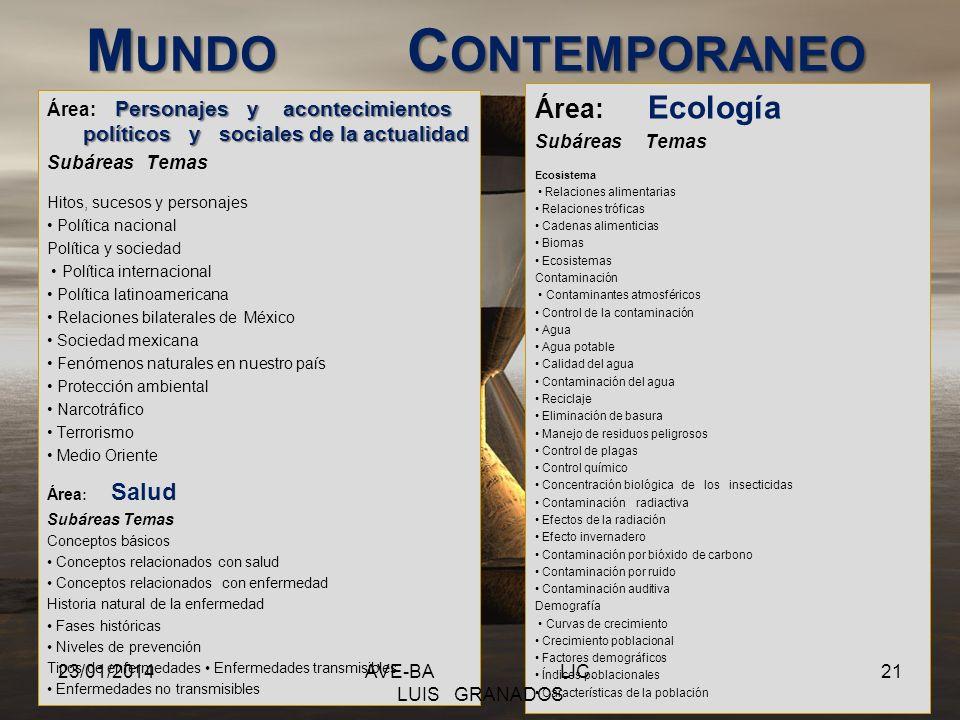 CIENCIAS NATURALES Área: Biología Subáreas Temas Introducción a la biología Conceptos generales de la biología Componentes químicos de los seres vivos