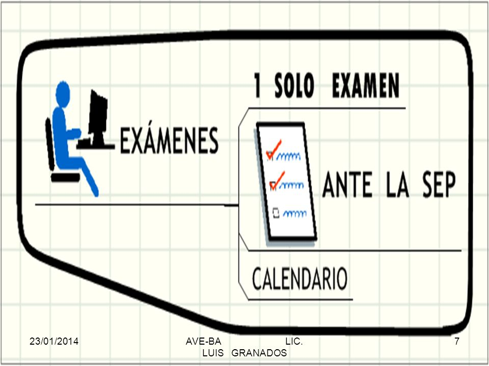 EXÁMENES 23/01/2014AVE-BA LIC. LUIS GRANADOS 7
