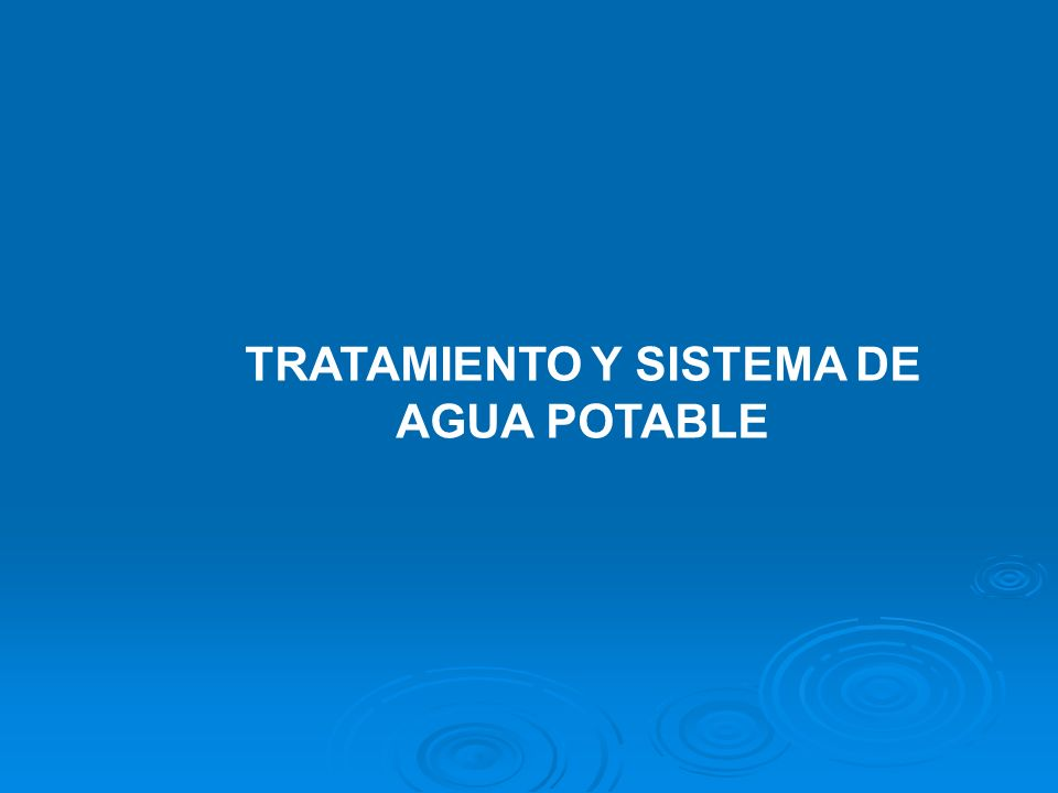 INTRODUCCION Descripción del Sector Descripción del Sector Los sistemas de abastecimiento de agua potable se distinguen en urbanos y rurales.